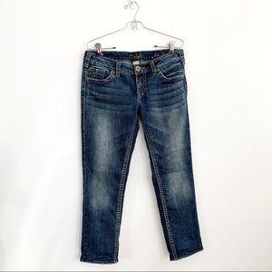 Silver Aiko Slim Crop Women's Riding Jeans 30